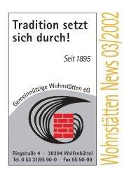 News 03/2002 - Gemeinnützige Wohnstätten eG
