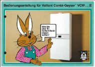 Vaillant Combi-Geyser VCW E