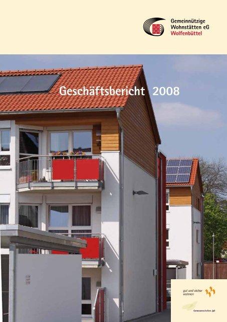 Geschäftsbericht 2008 - Gemeinnützige Wohnstätten eG