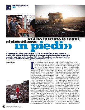 Ci ha lasciato le mani, ci rimettiamo in piedi - Caritas Italiana