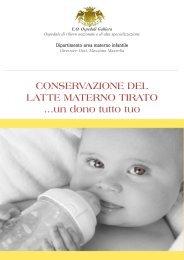CONSERVAZIONE DEL LATTE MATERNO ... - Ospedale Galliera