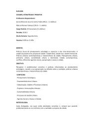 EUR 0203 CIDADES, ESTRATÉGIAS E PROJETOS ... - CCHLA/UFRN