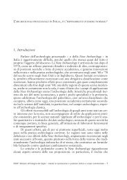A. M. BIETTI SESTIERI, L'archeologia processuale in Italia - BibAr