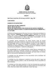 Edital DRH 01/2012 - Secretaria do Meio Ambiente