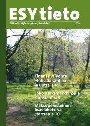ESY-tieto 1/2009 - Eläkesäätiöyhdistys