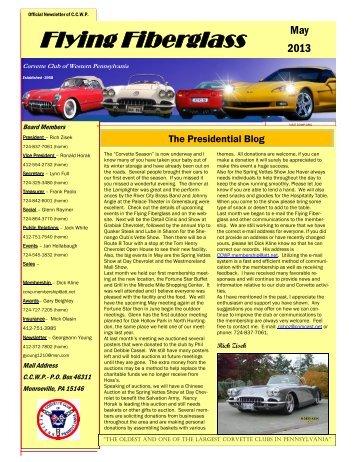 May - Corvette Club of Western Pennsylvania