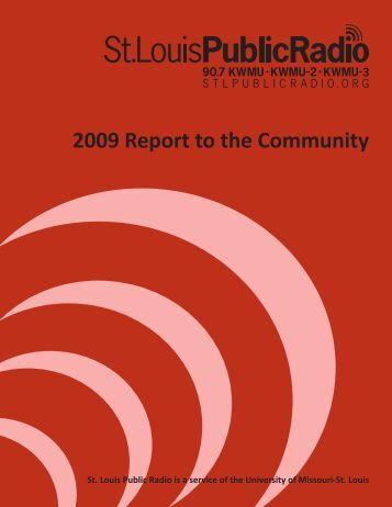 04_09_10 Annual Report.indd - St. Louis Public Radio
