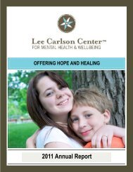 2011 Annual Report - Lee Carlson Center