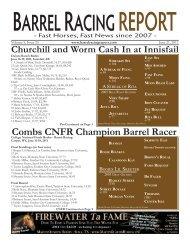 Combs CNFR Champion Barrel Racer - Barrel Racing Report