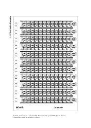 NOME: Le scale - master disturbi apprendimento