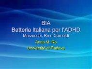 BIA Batteria Italiana per l'ADHD Marzocchi, Re e Cornoldi