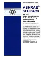 Public Review Draft of Addendum e - BACnet