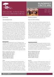 3. Rundbrief - Deutsche Schule Rom
