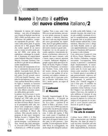 Il buono il brutto il cattivo del nuovo cinema italiano/2