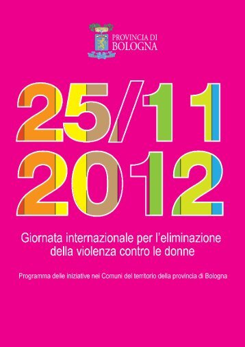 programma delle iniziative - Alla pari - Regione Emilia-Romagna