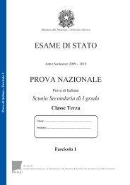 Prova di Italiano (Fascicolo 1) - Invalsi
