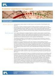 Customer experience management - a technical paper - Ipl.com