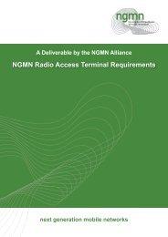 NGMN Radio Access Terminal Requirements