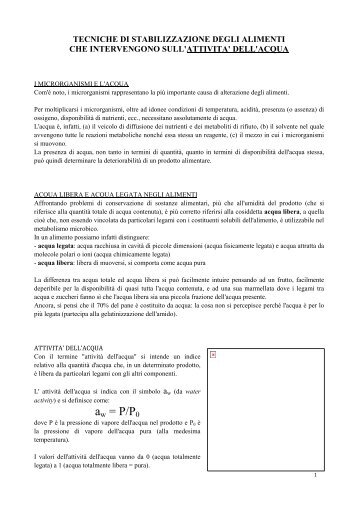 Conservazione alimenti 2 - Istitutoserpieri.It