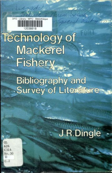 Technology of Mackerel Fishery - Pêches et Océans Canada