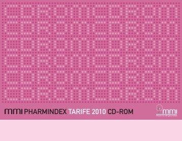 PHARMINDEX TARIFE 2010 CD-ROM - Medizinische Medien ...