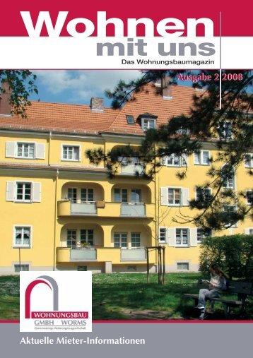 Ausgabe 2 2008 - Wohnungsbau GmbH Worms