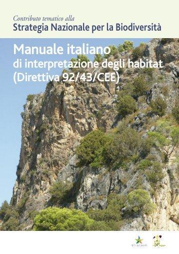 Manuale italiano di interpretazione degli habitat (Direttiva 92/43/CEE).