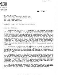 Mr. Roy Williams Vice President, Overseas Operations ... - usaid / ofda