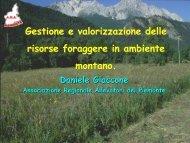 Gestione e valorizzazione delle risorse foraggere in ambiente ...