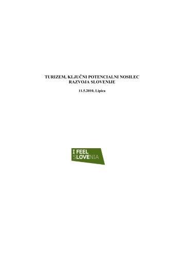 turizem, ključni potencialni nosilec razvoja slovenije - Ministrstvo za ...