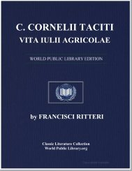 C. CORNELII TACITI VITA IULII AGRICOLAE - World eBook Library