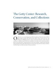 The Getty Center: Research, Conservation, and Collections