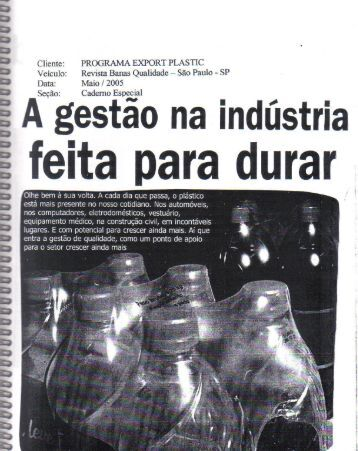 Page 1 PROGRAMA EXPORT PLASTIC Banas Qualidade -- Säo ...