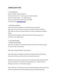 CURRICULUM VITAE - Colexio Oficial de Biólogos de Galicia