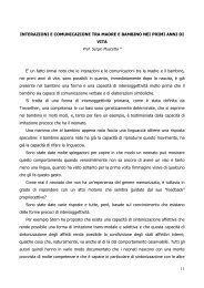 11 INTERAZIONI E COMUNICAZIONE TRA MADRE E BAMBINO ...