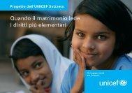 Matrimoni precoci - Unicef