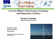 Current Offshore Wind Energy Technology and Deployment Activities