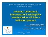 Il Disturbo Autistico - Ctslecce.it