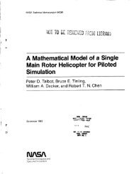 A Mathematical Model of a Single Main Rotor Helicopter for ... - Read