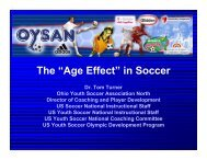 Age Effect in Youth Soccer - Tennessee State Soccer Association