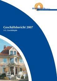Geschäftsbericht 2007 - Wohnungsverein