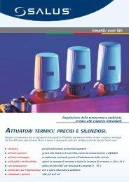 ATTUATORI TERMICI : PRECISI E SILENZIOSI - SALUS Controls