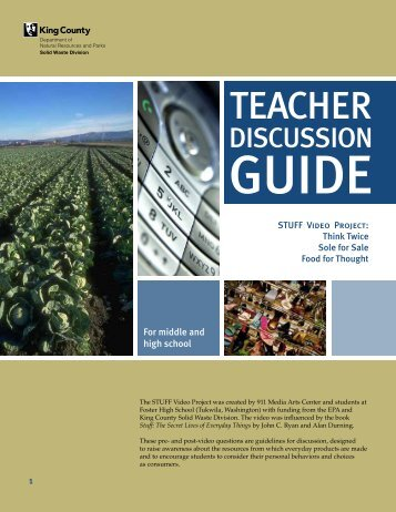 STUFF video project teacher discussion guide ... - King County