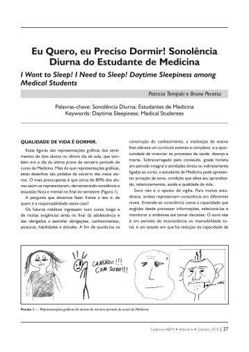 Eu Quero, eu Preciso Dormir! - Associação Brasileira de Educação ...