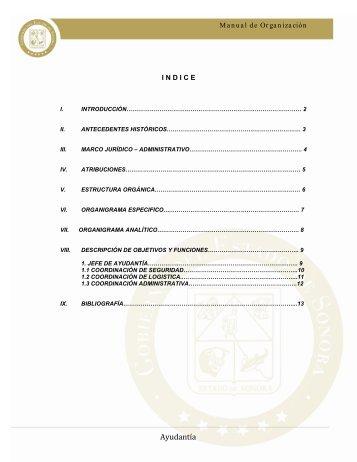 Ayudantía - Gobierno del Estado de Sonora