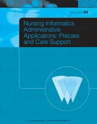 Nursing Informatics Administrative Applications: Precare and Care ...