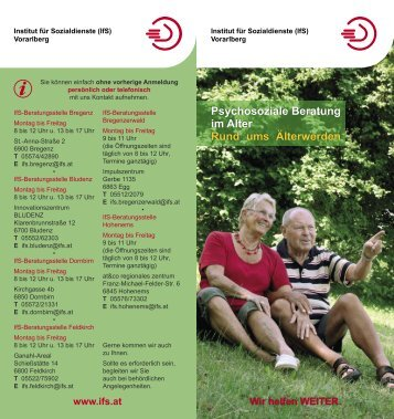 Psychosoziale Beratung im Alter Rund ums Älterwerden