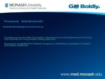 Presented by: Badal Moslehuddin - BASPCAN