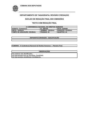 departamento de taquigrafia, revisão e redação núcleo de redação ...