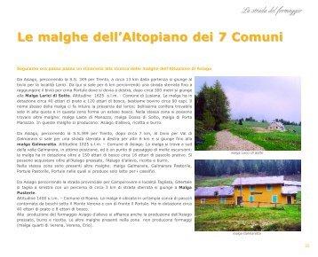 Le malghe dell'Altopiano dei 7 Comuni - Gustolocale